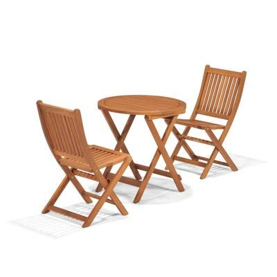 Hampton Bay Folding Wood 3 Piece Bistro Set 2066700500 Home Depot Canada 148 Quebec