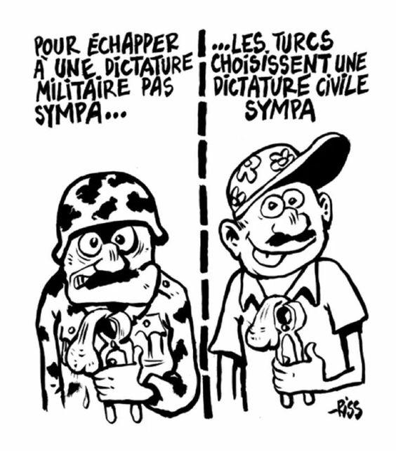 Rissa  (2016-07-30) Turquie : #Turquie #Dictature #Erdogan (pour Charlie Hebdo)