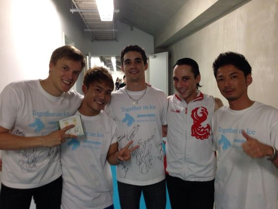 Twitter / dhm1100s: BREATHE 羽生選手凱旋イベントTogether on ...:TOI2014トマシュ、ハビエル、ジョニー,Tomáš Verner,Javier Fernández,Johnny Weir