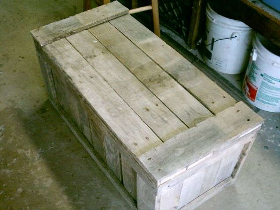 Pallet Trunk   The o'jays, Trunks and Cool ideas
