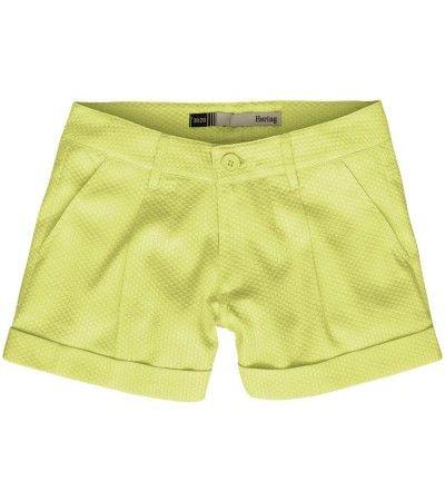 HERING: Shorts confeccionado em tecido algodão com textura