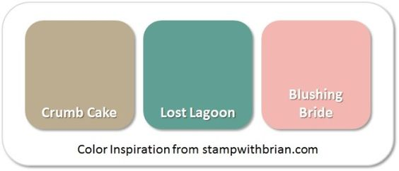 Stampin' Up! Color Inspiration: Crumb Cake, Lost Lagoon, Blushing Bride