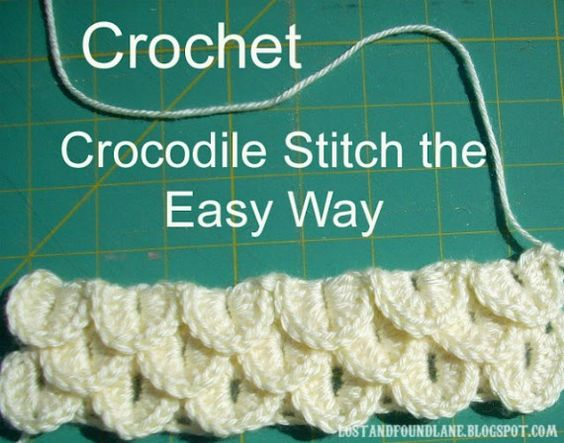 Crocodile #crochet stitch tutorial