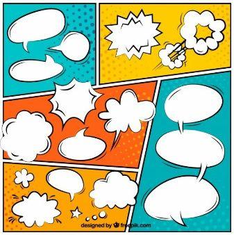 Globos de diálogo coloridos de cómic