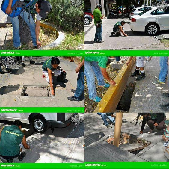 Esto fue parte de nuestra actividad realizada en las calles de #Puebla el sábado 10 de octubre. Encontramos espacios en mal estado que afectan a los cuidadanos y al medio ambiente. #greenpeace #Puebla by greenpeacepuebla