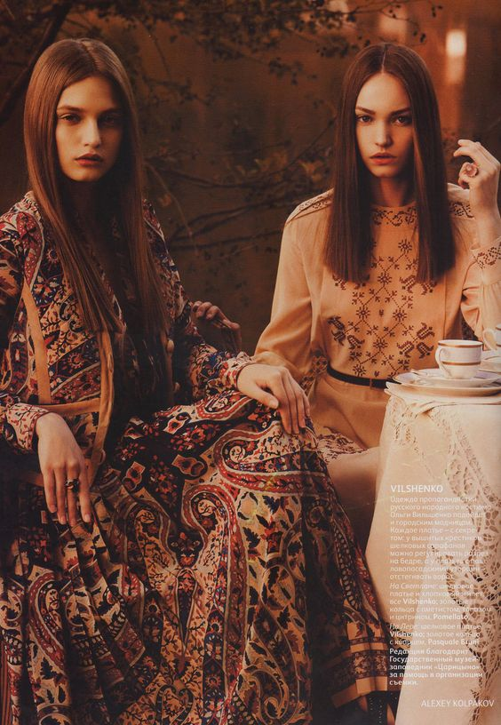 Vogue Russia July 2011 gypsy bohemian chic