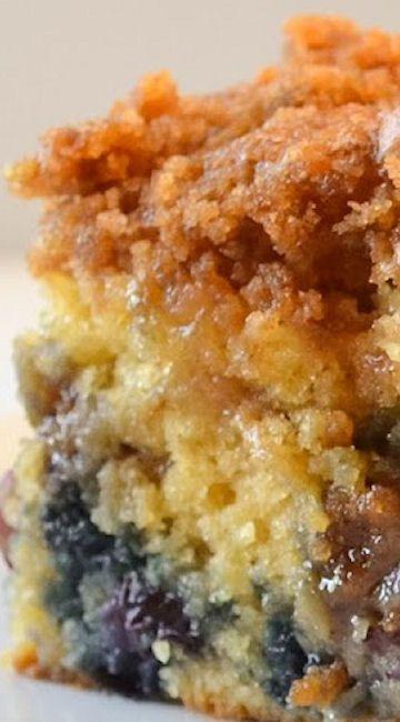 Blueberry Cinnamon Swirl Crumb Coffeecake Recipe ~ A coffeecake loaded with…: