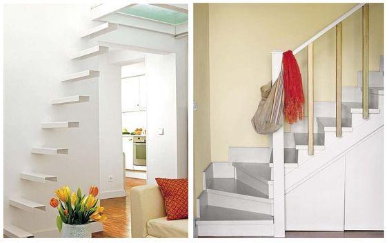 Escaleras para espacios reducidos y escaleras con espacio - Decoracion de interiores para espacios pequenos ...