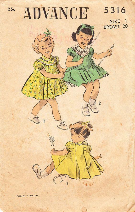1940s Vintage ADVANCE Sewing Pattern No 5316 by daisyepochvintage, $10.00