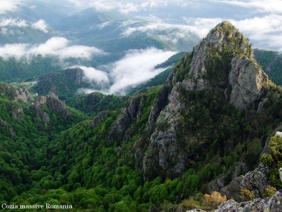 Romania Carpathian mountains Cozia Romania ladnscape