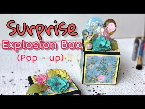 Jumping Explosion Box Tutorial Transformable Exploding Box Payal Bhalani Youtube Explosion Box Explosion Box Tutorial Diy Exploding Box