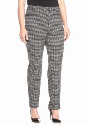 New Directions  Plus Size Jacquard Slim Leg Pant