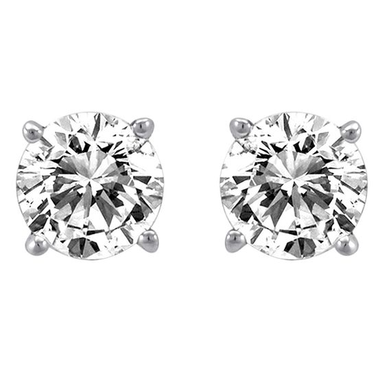 0.25 ct Diamond Solitaire Earrings - Hannoush Jewelers - $240.00