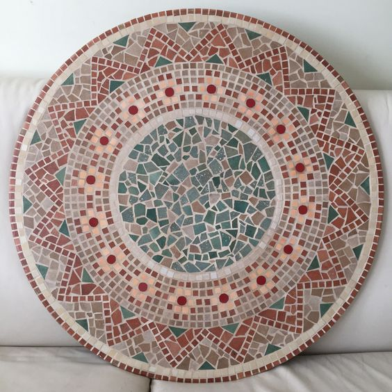 the mosaic for the table