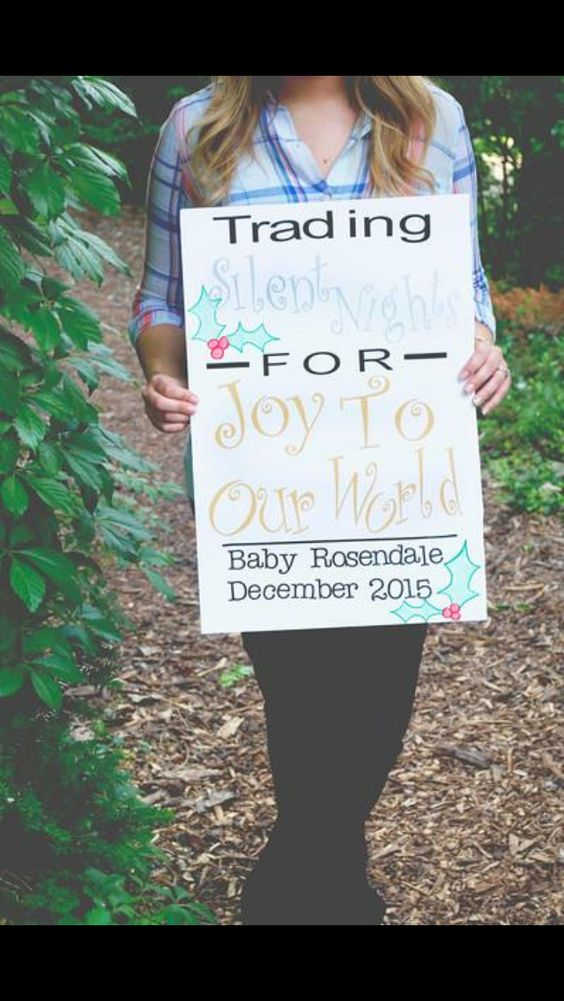 December Baby Announcement Baby R Pinterest Baby