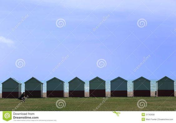 Strandhütten In Brighton Lizenzfreie Stockfotos - Bild: 21762658