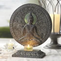 buddha tealight candle holders and candle holder set on pinterest. Black Bedroom Furniture Sets. Home Design Ideas