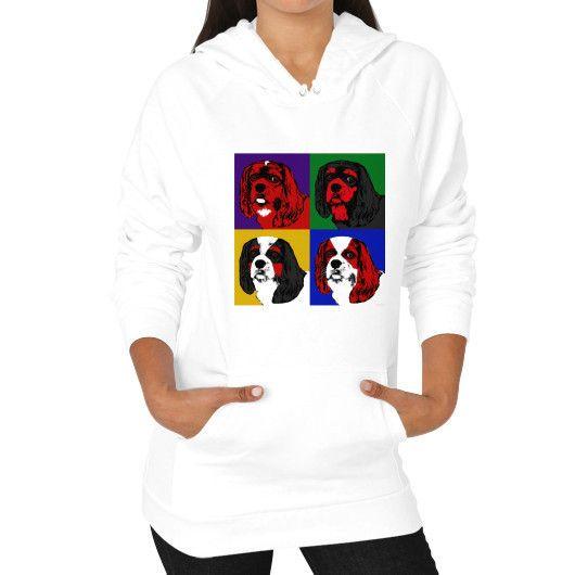 Cavalier King Charles Spaniel pop art (Unisex Hoodie)