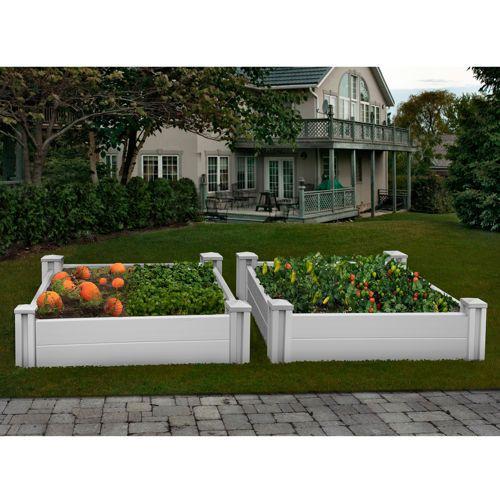 White Vinyl Raised Garden Bed 2 Pk Costco Pinterest