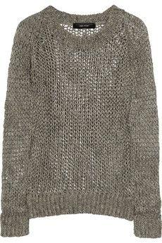 Isabel Marant | Eva open-knit linen sweater | NET-A-PORTER.COM: Marant Eva, Isabel Marant Knit, Loose Knit Sweaters
