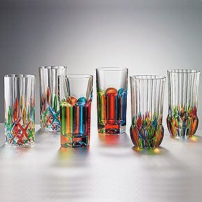 These Italian Hand-Painted Crystal Tumblers from The Smithsonian Store are so pretty, I'd be almost tempted to use them for flower arrangements instead of drinks! They come in three different styles, two of each, for $160.
