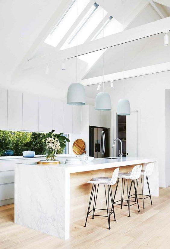 対面式キッチン 照明例