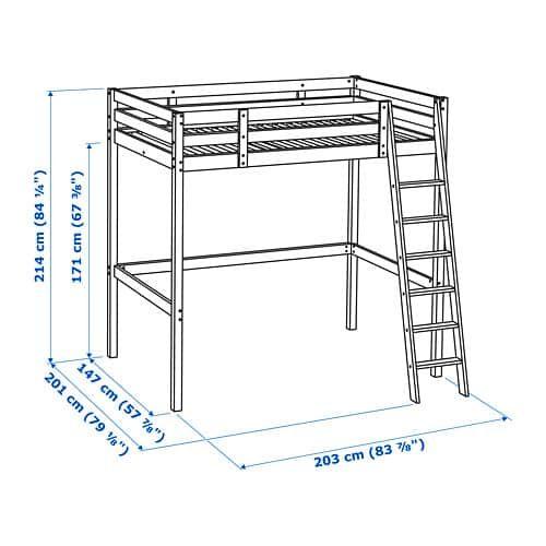 Stora Loft Bed Frame Black Full Double Ikea Loft Bed Frame Loft Bed Plans Diy Loft Bed
