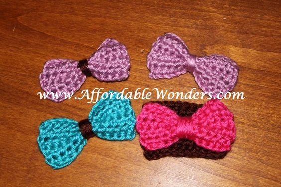 Free Crochet Easy Hair bow Pattern.