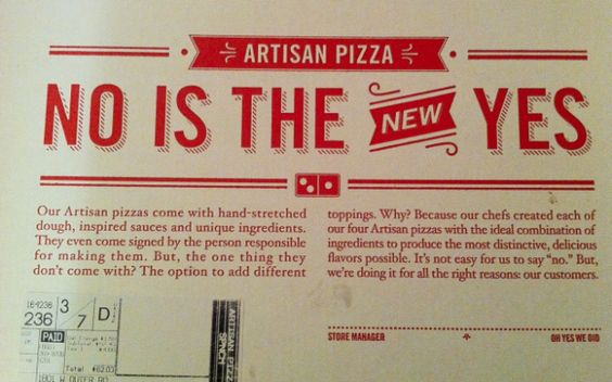 """Bain Capital-owned Domino's Pizza makes a hah-hah rape joke with its new """"NO IS THE NEW YES"""" campaign 