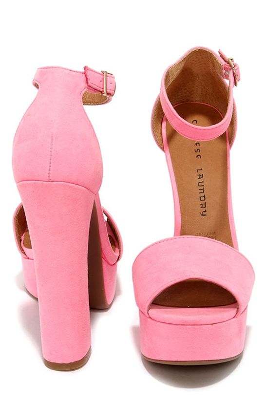 Chinese Laundry Avenue Pink Suede Platform Heels 2016 - Fashion Te