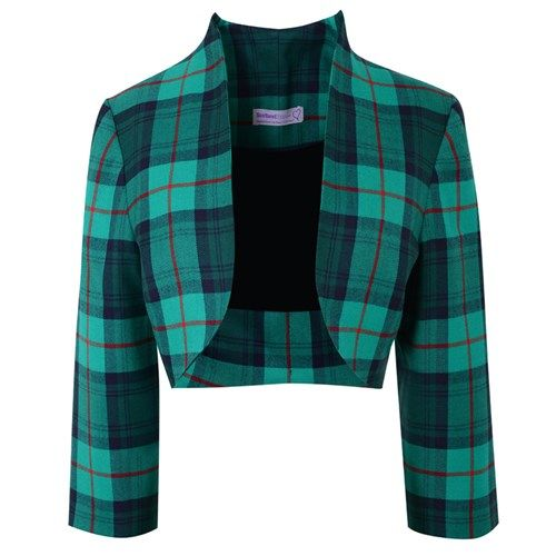 Discover the fabulous new Plaid Bolero