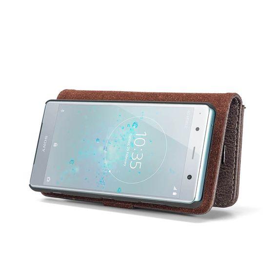 Dg Ming Sony Xperia Xz2 Compact Bifold Wallet 2 In 1 Case Gray Bi Fold Wallet Sony Case Sony Xperia