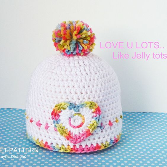 The Jelly Tots Baby Hat Pattern! Just released! Matching blanket pattern also available 💕