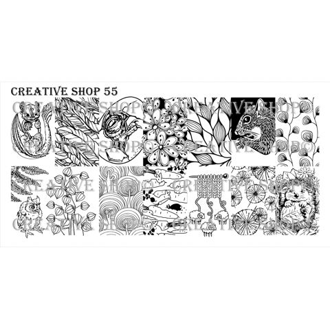 Creative Shop- Stamping Plate- 55