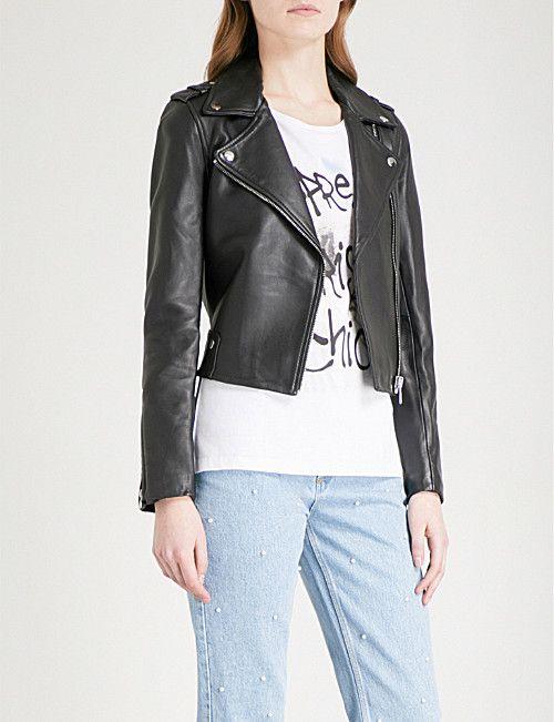 Claudie Pierlot Leather Jacket Leather Jacket Jackets White Leather Jacket