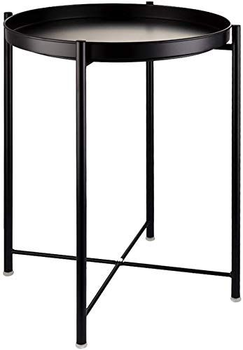 Amazing Offer On Eknitey End Table Folding Metal Side Table Waterproof Small Coffee Table Sofa Side Table Removable Tray Living Room Bedroom Balcony Office In 2020