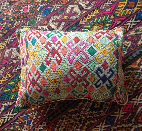 Vintage Moroccan Kelim Cushion// Berber Cushion