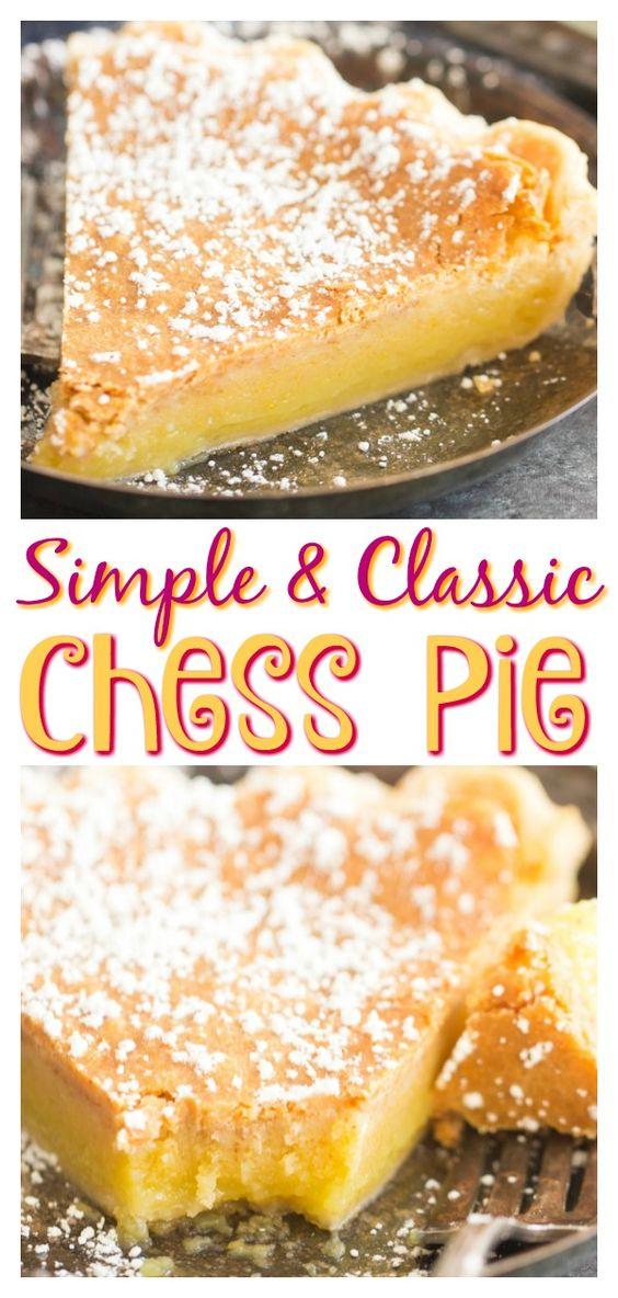 Simple Classic Chess Pie Recipe