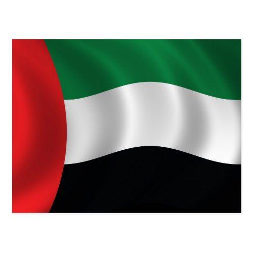 United Arab Emirates Flag Postcard Zazzle Com In 2020 Emirates Flag Holographic Wallpapers Postcard