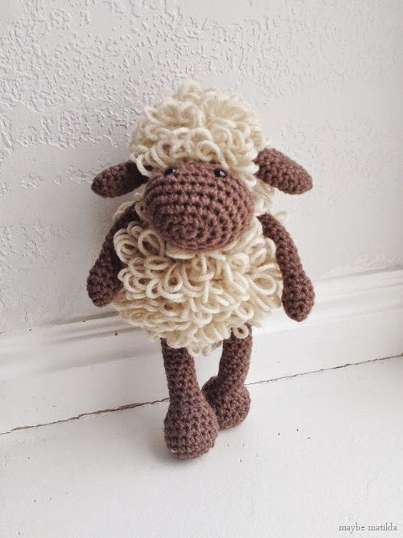Sweetest little crochet sheep! Link in post to free ...