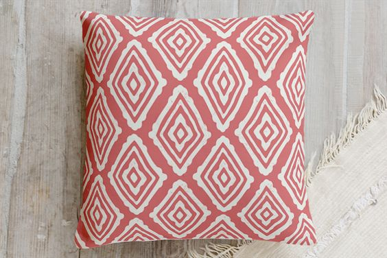 Snuggling Diamonds Pillow by Kimberly Morgan | Minted