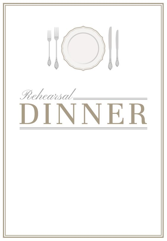 Elegant Setting Free Printable Rehearsal Dinner Party Invitation – Dinner Invitation Templates Free