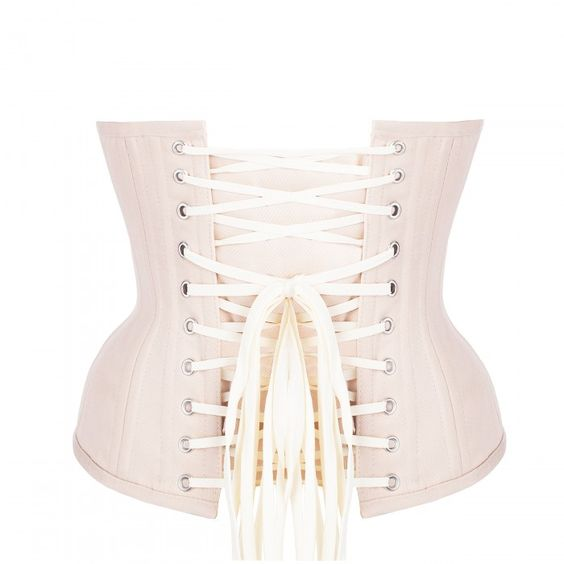54d79f217c Pinky Beige Cotton Twill Classic Underbust Waist Trainer with Hip Gores
