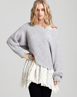 Free People Horizontal Rib Cropped Pullover Sweater - Sweaters - Apparel - Women's - Bloomingdale's