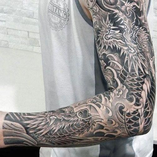 Black And White Dragon Tattoo Tattoosformen Dragon Tattoos For Men Hand Tattoos For Guys Black Dragon Tattoo