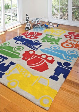 I have been seriously coveting this rug since I saw it in a shop on one of my walks. If only the wee man's room wasn't carpeted!