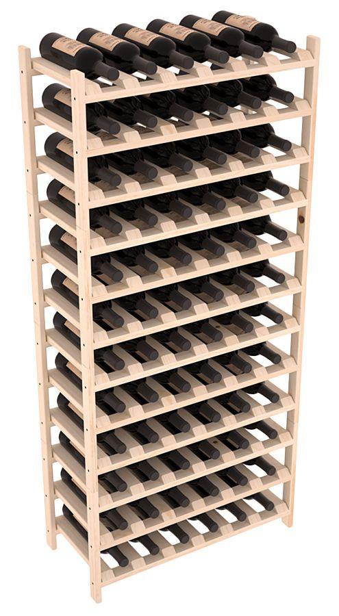 Details about 72 bottle stacking wood wine rack shelf in for Wine bottle shelf diy