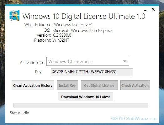 Windows 10 Digital License Activator V 1 0 2019 Windows 10 Windows Windows Software