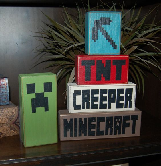 Creepers minecraft and stacking blocks on pinterest - Minecraft decorative items ...