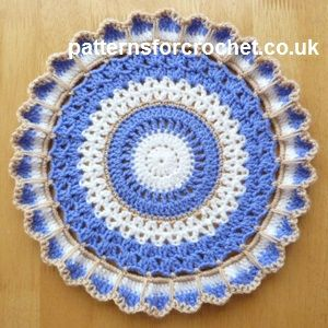 Free crochet pattern for round doily http://patternsforcrochet.co.uk/round-doily-usa.html #patternsforcrochet: